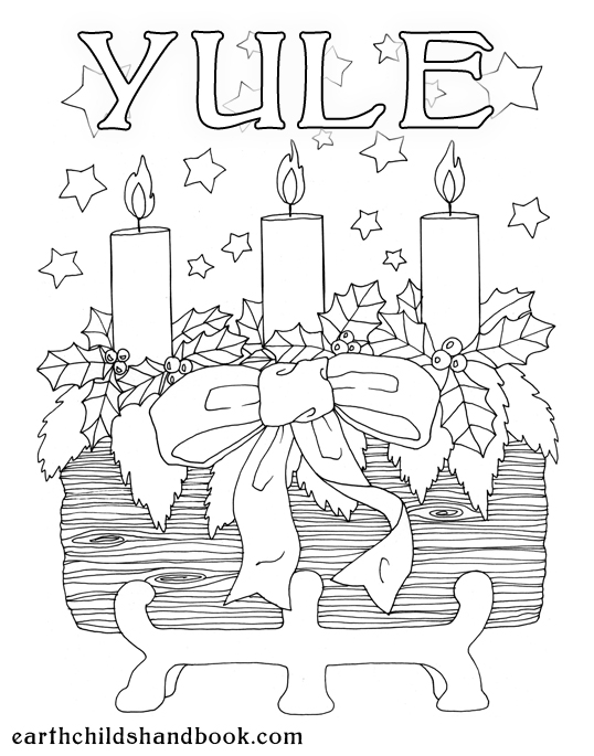 pagan yule coloring pages - photo #4