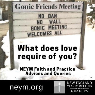 No Ban No Wall Gonic Meeting welcomes All