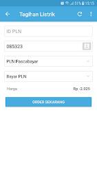 Tampilan Aplikasi Halaman Cek dan Bayar Tagihan
