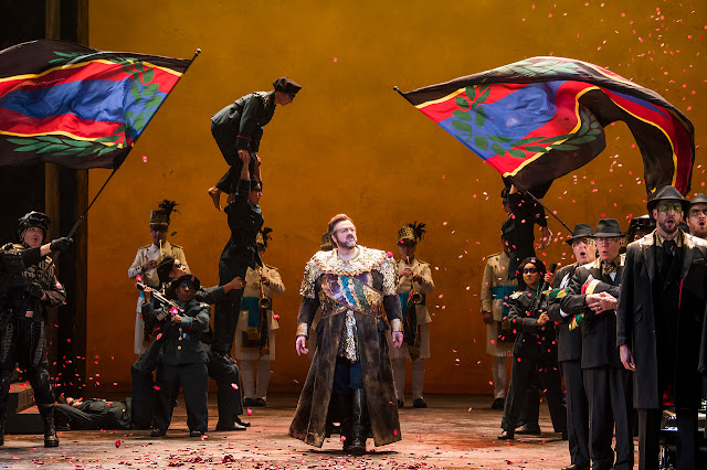 Verdi: Aida - English National Opera - Gwyn Hughes Jones  (photo Tristram Kenton)
