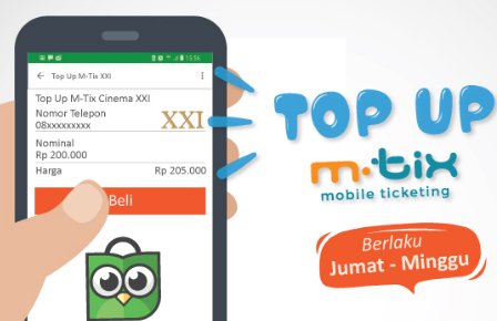 cara top up saldo mtix tokopedia