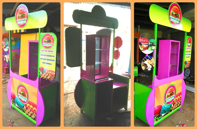 Booth Portable Burger Pelangi