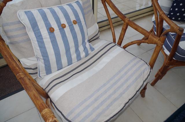 A nous la d co relooker de vieux fauteuils en osier - Coussin pour fauteuil en rotin ou osier ...