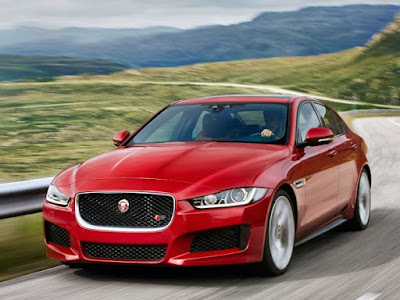 Jaguar XF luxury car Red HD image
