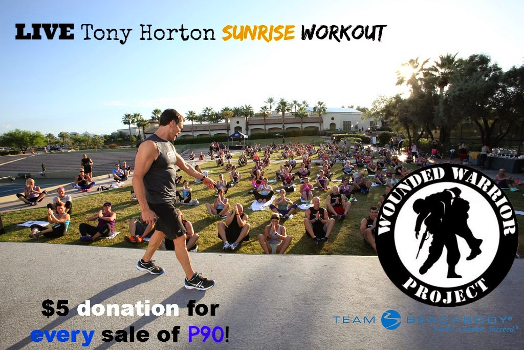 P90 , new tony horton workout, wounded warrior donations