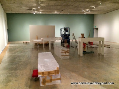 gallery 2 prepping for show at Berkeley Art Museum in Berkeley, California
