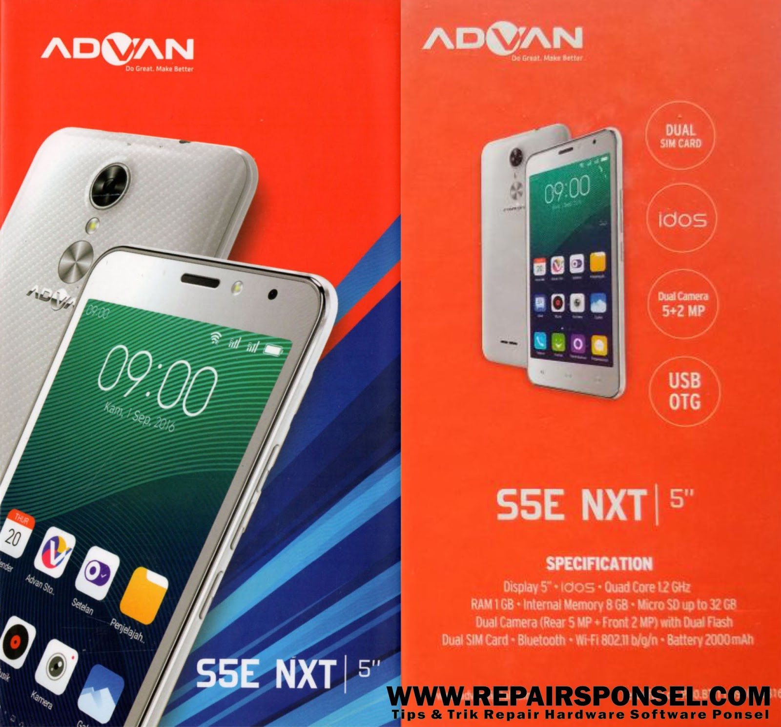 Cara Hard Reset Advan S5e Next Wipe Data Repairs Ponsel S5x