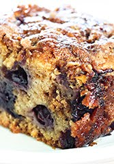 Old-Fashioned Blueberry Buckle with Lemon Syrup Topping (GF) (DF)