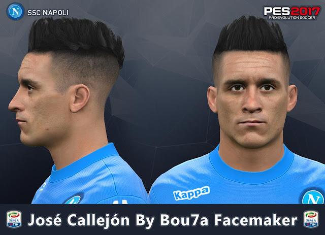 José Callejon PES 2017 By Bou7a Facemaker
