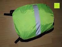 über Rucksack: Regenschutz für Rucksäcke Rucksackschutz Ranzen Regenschutz Rucksackcover Regenüberzug Neon Sicherheitsüberzug Reflektorüberzug