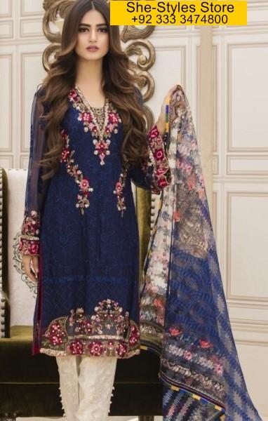 Veena Durrani Luxury Embroidered Tunics Vol-5 2017-18