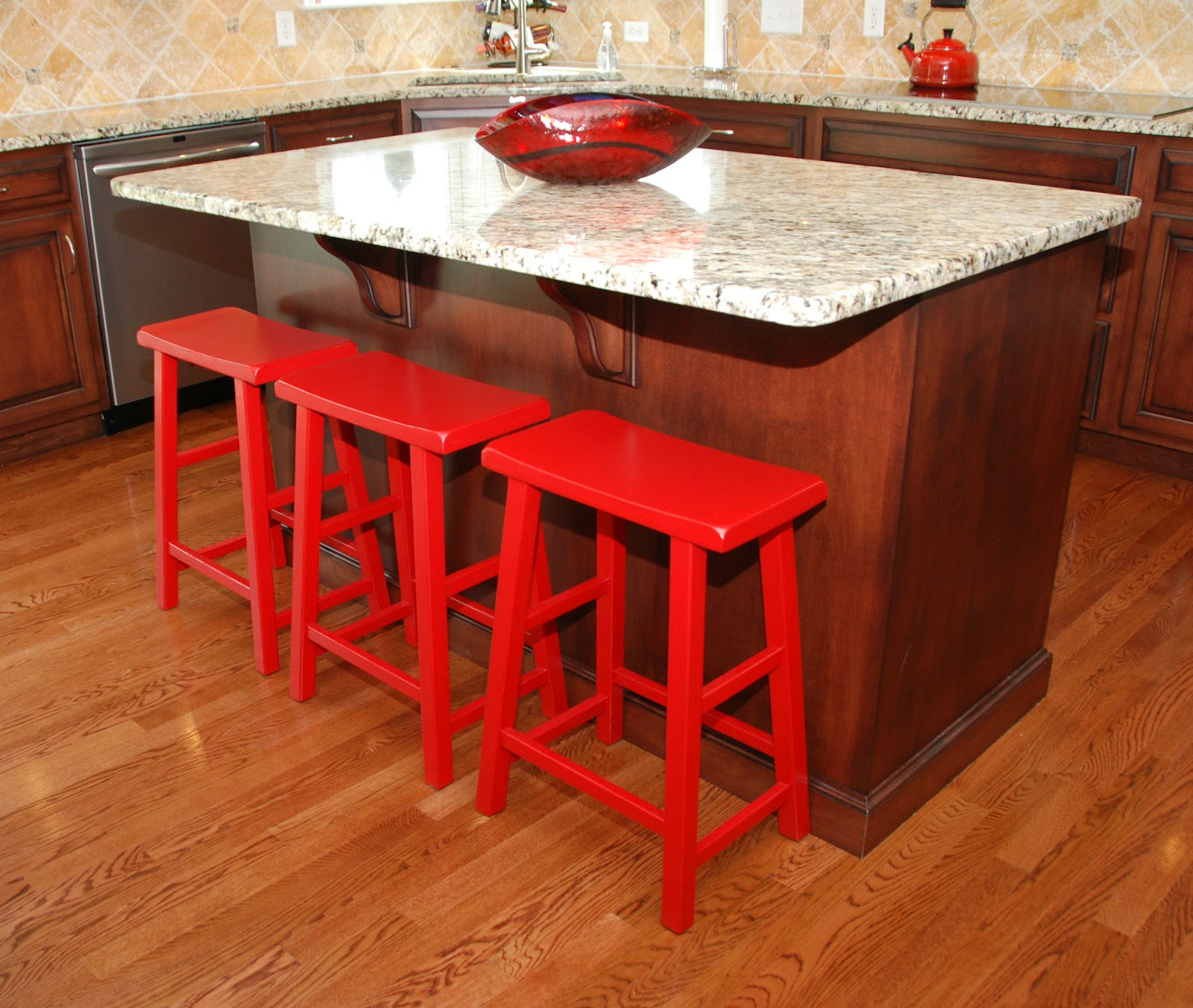 Add Your Kitchen With Kitchen Island With Stools: One Creative Housewife: Saddle Stools Redo