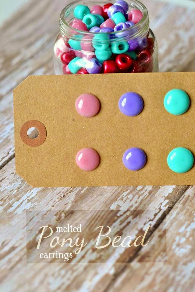 The life of jennifer dawn melted pony bead jewelry for How to make beads craft