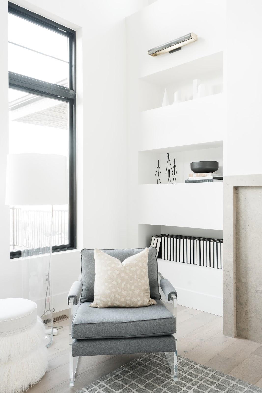 Modern Furniture, Grey Modern Chair