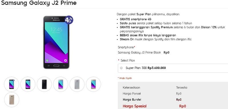 Super Plan 300 Gratis Samsung Galaxy J2 Prime