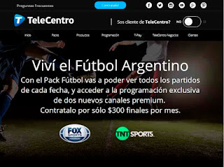 Pack Fútbol Telecentro - canales premium para ver la Superliga