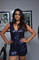 Sanjana looks happy in sparkling short Deep neck Purple Gown ~  Exclusive 70.JPG