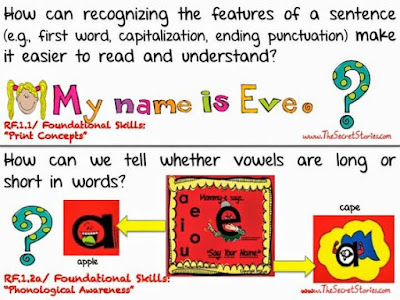 FREE Secret Stories® Common Core Literacy Posters for PreK-3rd!