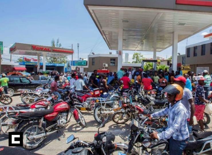 Huelga en Haití por falta gasolina