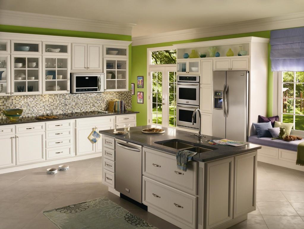 tons verdes é tão ampla mostramos lhes 24 cozinhas em vários tons #505A18 1024 772