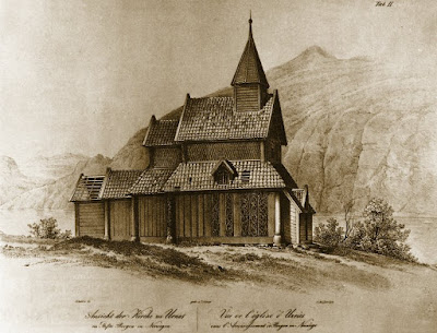 Urnes Stave Church by Johan Christian Dahl