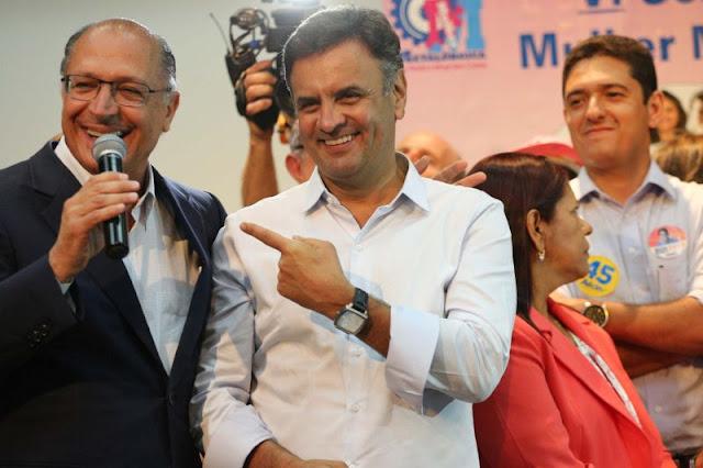 'Aécio tem nosso respeito e afeto', diz Geraldo Alckmin