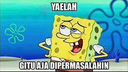 Gambar Lucu Untuk Komentar di Facebook Spongebob