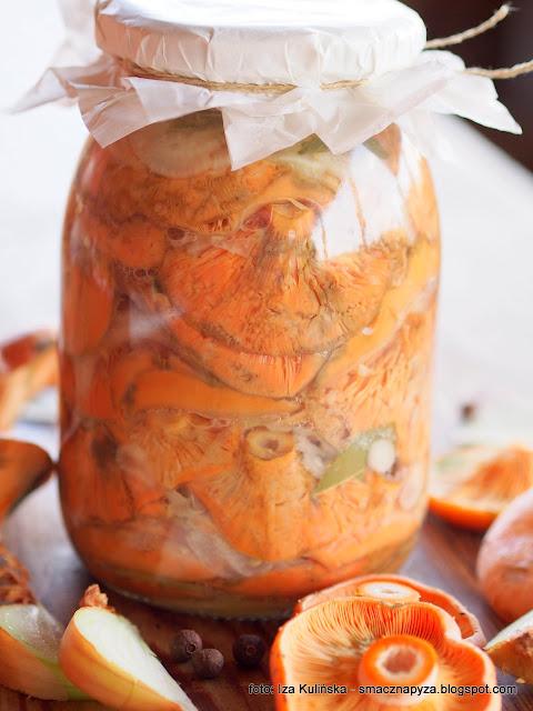mleczaj rydz, kiszone grzyby, rydzyki kiszone, kiszonki, fermentacja, rydze z sola i cebula, przetwory, sloiki, grzyby lesne, grzybobranie