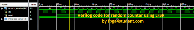 Verilog code for random counter using LFSR