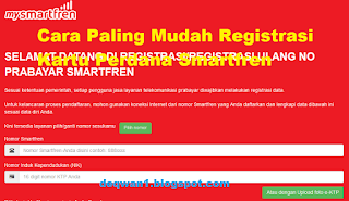 Cara Registrasi Kartu Perdana Smartfren