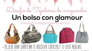 Un bolso con glamour / Desafío de Tejedoras / 40 tutoriales y patrones de bolsos