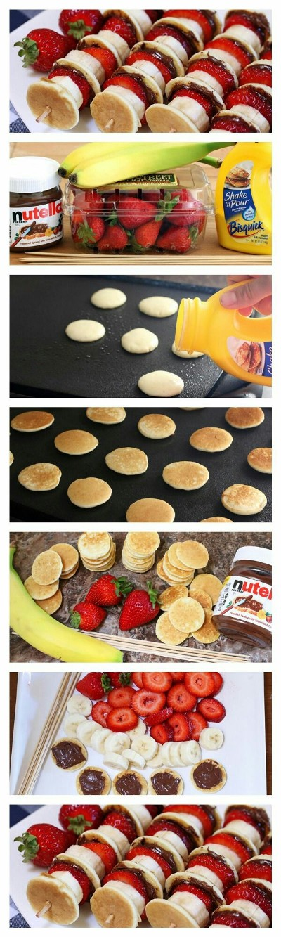 Nutella Mini Pancake Kabobs. Foto: tablespoon