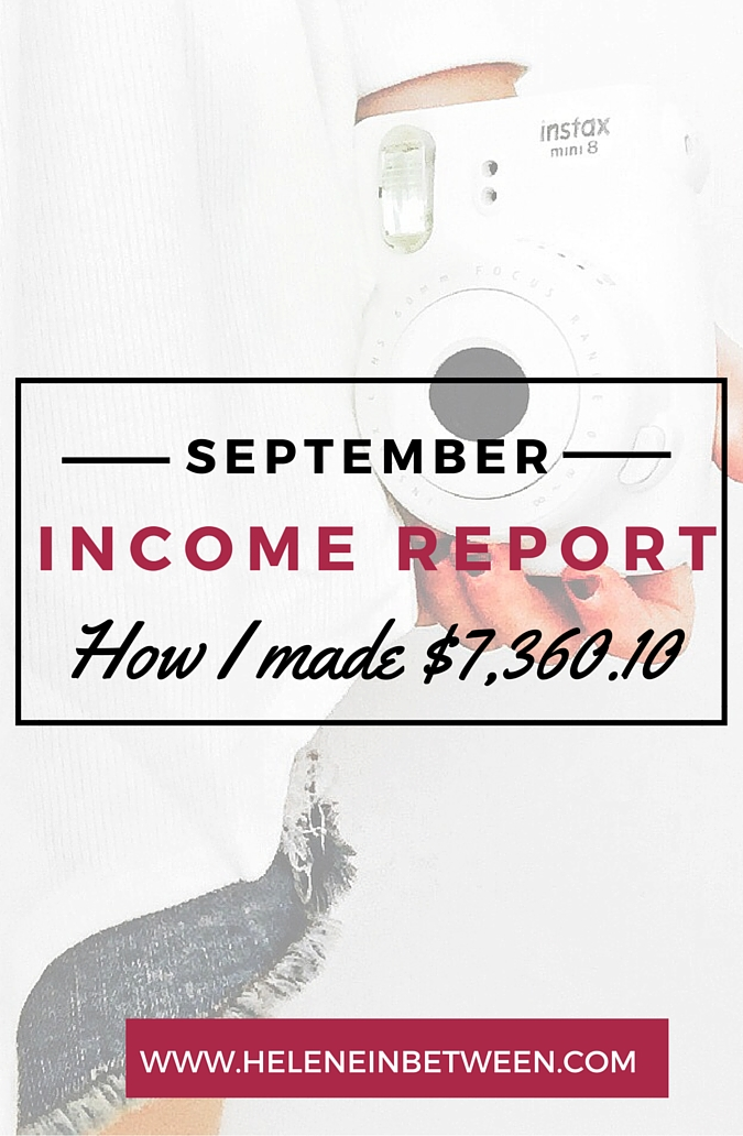 Blogging Income Report for September