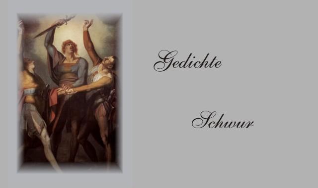 Deutsche Dichter zum Thema Schwur