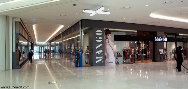 Tienda de Mango en el Times Square de Corea del Sur