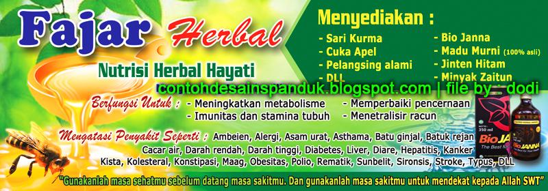Spanduk Toko Obat Herbal Fajar Herbal   Contoh Desain ...