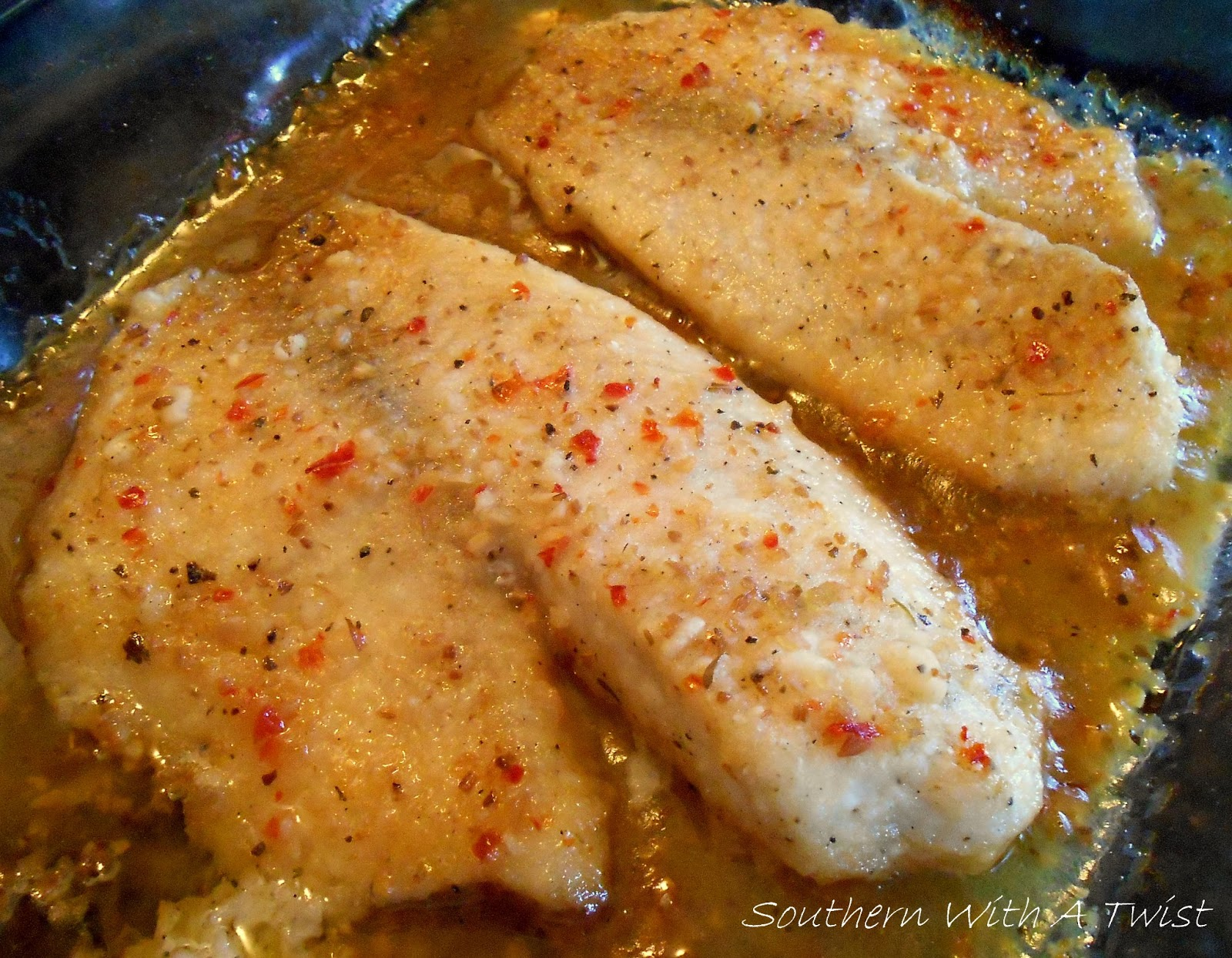 southern with a twist baked fish in vinegar sauce my