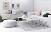 White living room visualization
