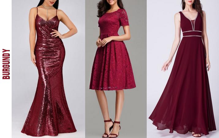 Burgundy bridesmaid dresses ever-pretty