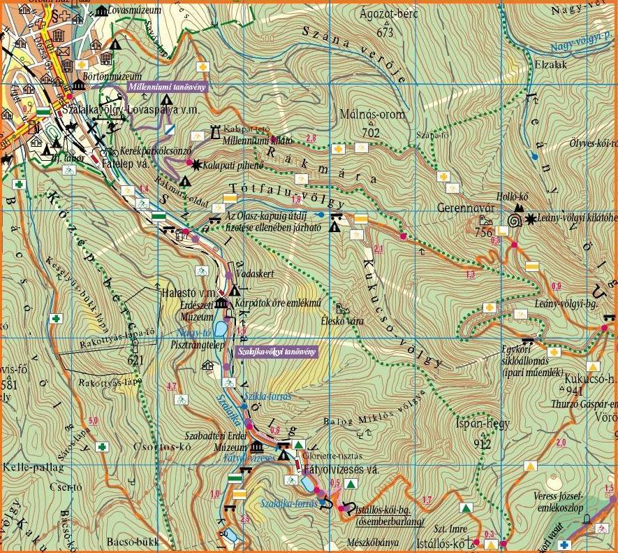 szalajka völgy térkép Szalajka völgy szalajka völgy térkép