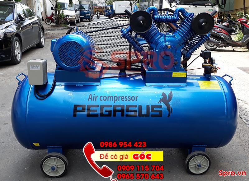 Máy bơm hơi khí nén pegasus giá rẻ áp lực 12.5 bar, bình chứa 500L