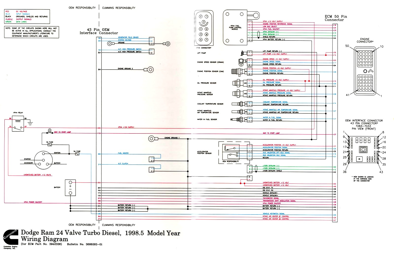 Cummins Wiring Diagram Ethernet Rj45 Ecm Mins Ism Engine