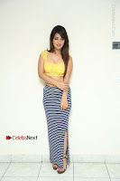 Cute Telugu Actress Shunaya Solanki High Definition Spicy Pos in Yellow Top and Skirt  0002.JPG