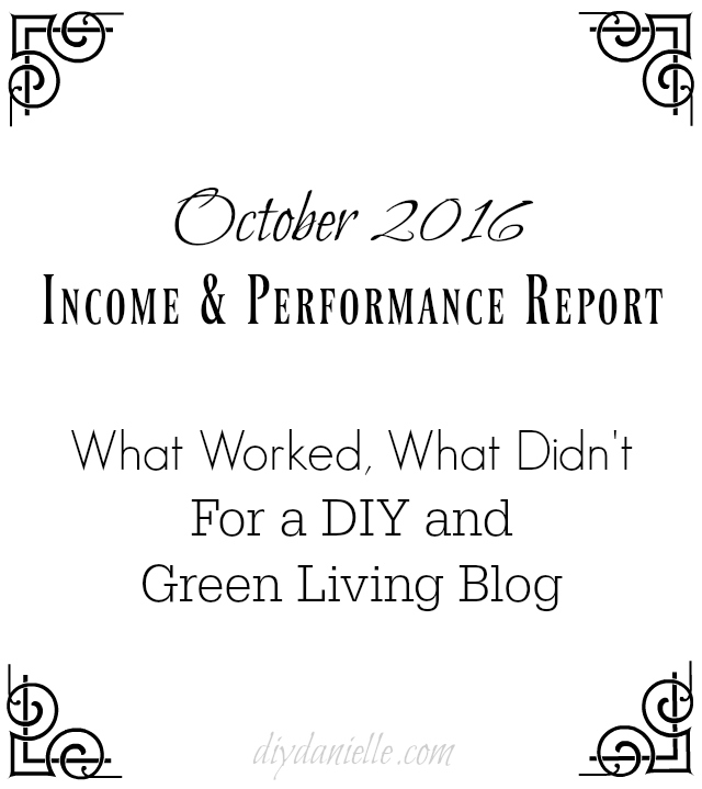 October 2016 Blog Income and Performance Report