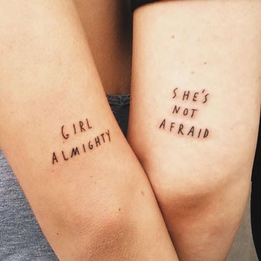 Estes correspondência feminista tatuagens