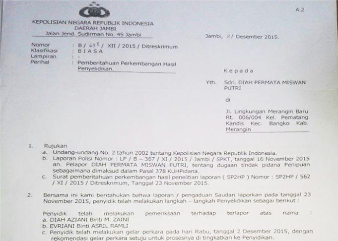 Jambipos Polda Jambi Diminta Ungkap Tuntas Kasus Penipuan Cpns