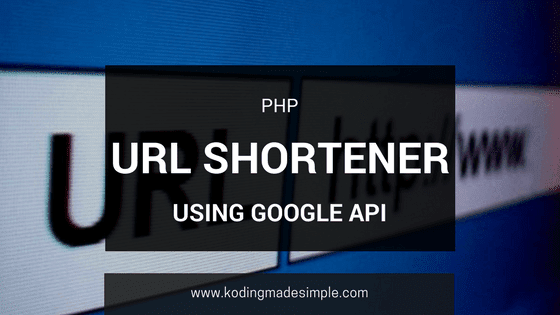 php url shortener using google api