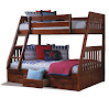 Bedz King Stairway Bunk Beds Twin over Twin