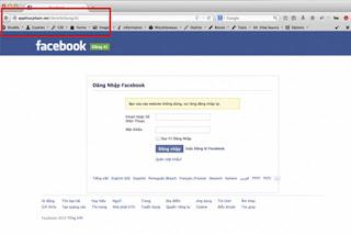 Trang giả mạo facebook