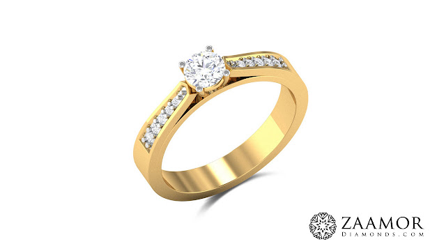 Exotica Band Solitaire Ring